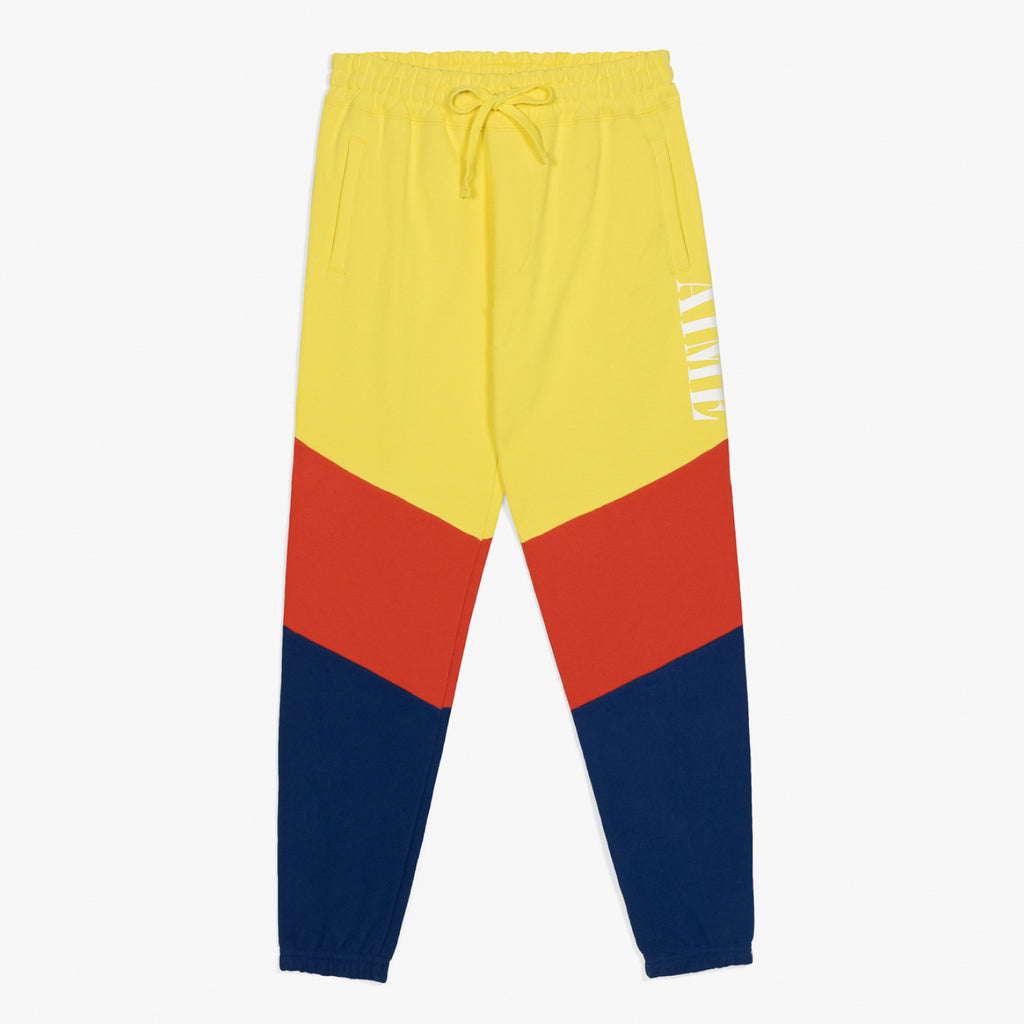 COLOR BLOCKED SWEATPANTS - YELLOW - Sweatpants Aimé Leon Dore