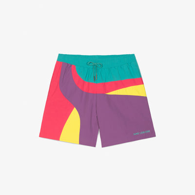 COLOR-BLOCKED SWIM TRUNKS - PURPLE - Shorts Aimé Leon Dore