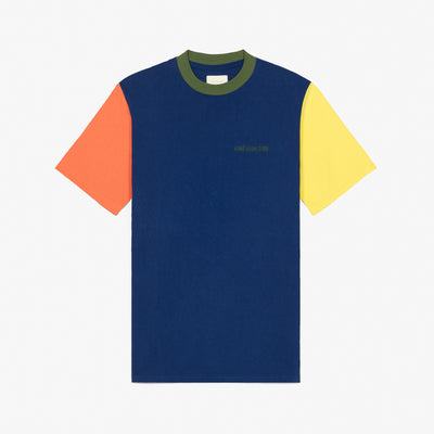 COLOR-BLOCKED LOGO TEE - NAVY - Tees Aimé Leon Dore