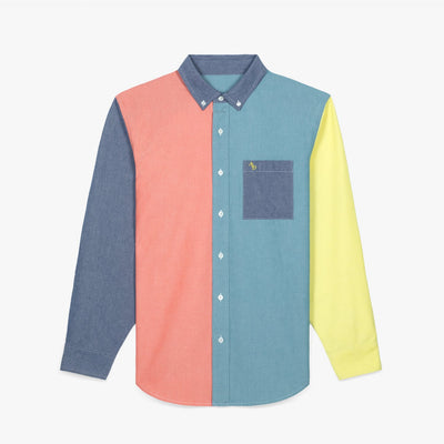 COLOR BLOCKED OXFORD SHIRT - ORANGE - Woven Shirts Aimé Leon Dore