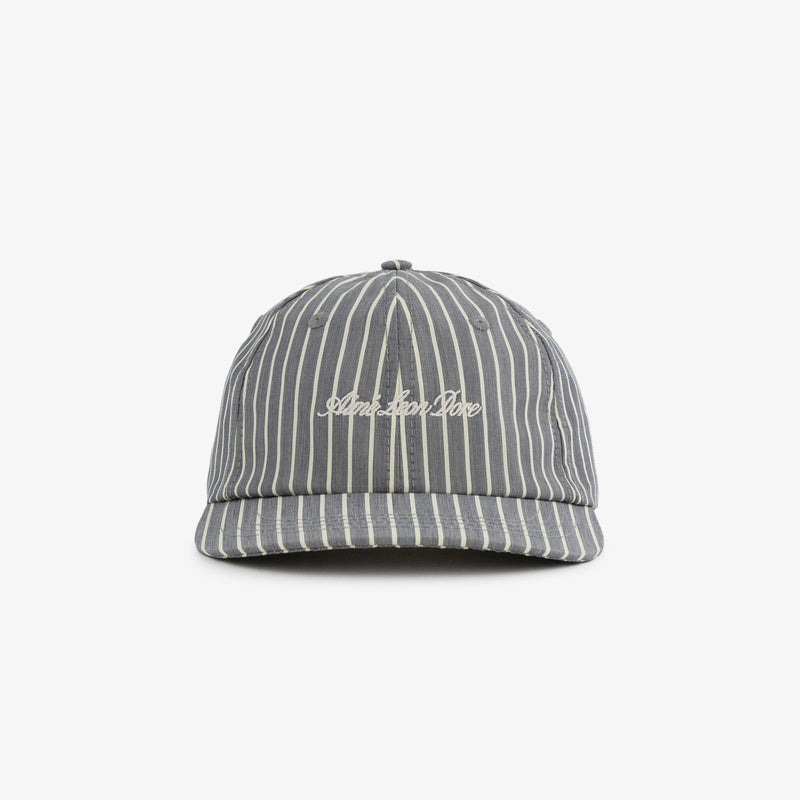 Striped Poplin Logo Hat