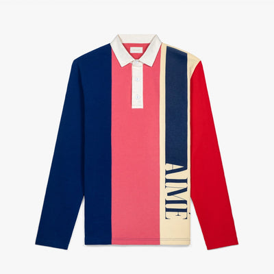 HEAVYWEIGHT FRENCH TERRY RUGBY - NAVY/PINK - Tees Aimé Leon Dore