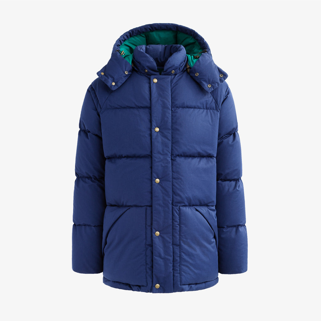 HOODED DOWN COAT - NAVY