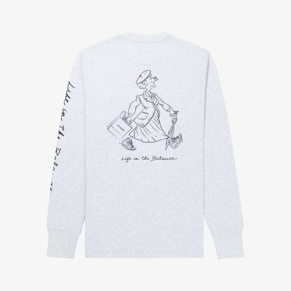 ALD / NEW BALANCE LS GRAPHIC TEE