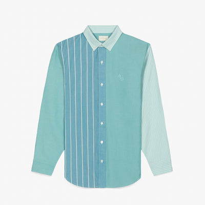 STRIPED OXFORD SHIRT - TEAL