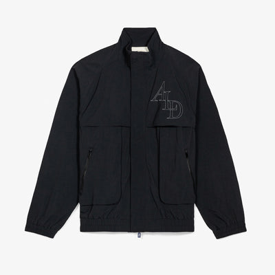NYLON WINDBREAKER - BLACK