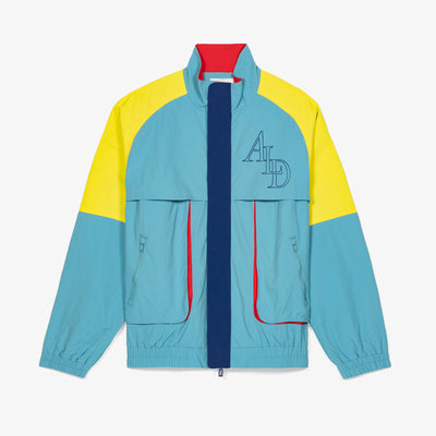 COLOR BLOCKED NYLON WINDBREAKER - TEAL - Outerwear Aimé Leon Dore