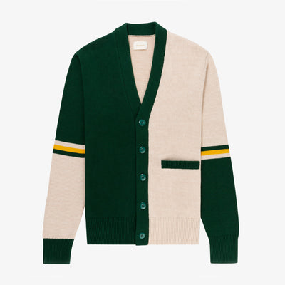 ASYMMETRIC TENNIS CARDIGAN