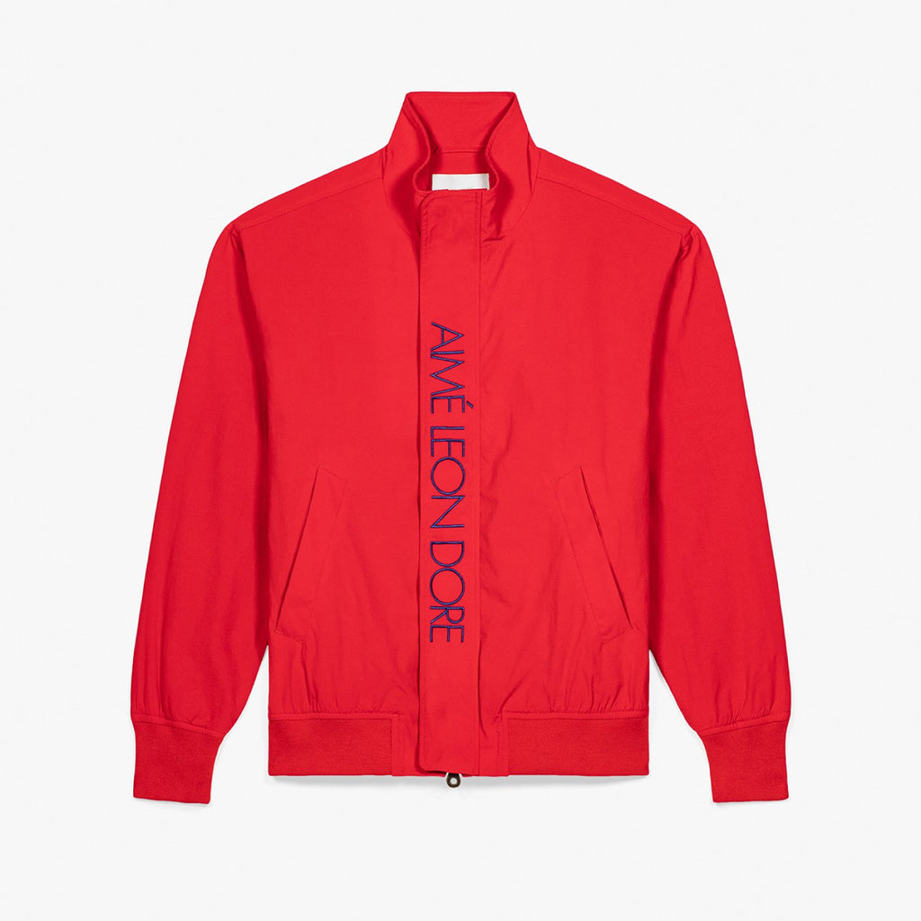 NYLON SAILING JACKET - MINERAL RED