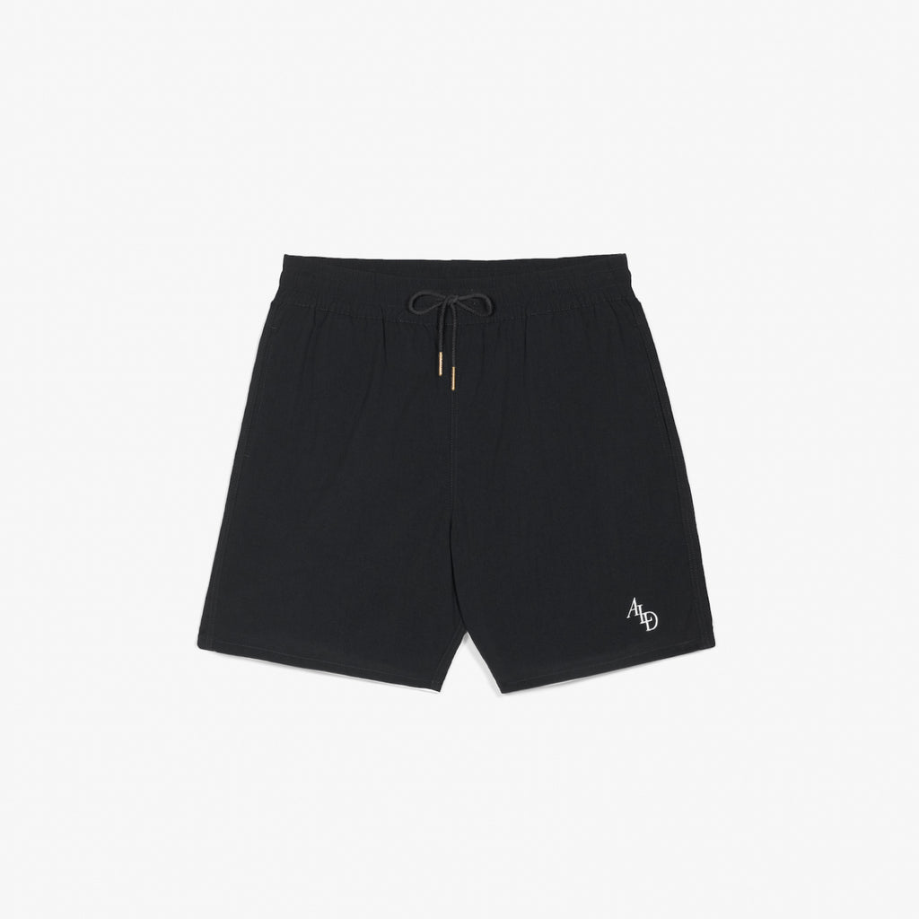 MONOGRAM NYLON SHORTS - BLACK