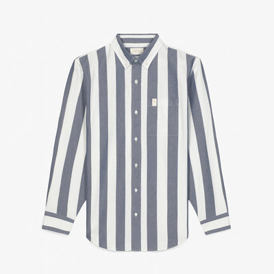 STRIPED OXFORD SHIRT - WHITE/NAVY