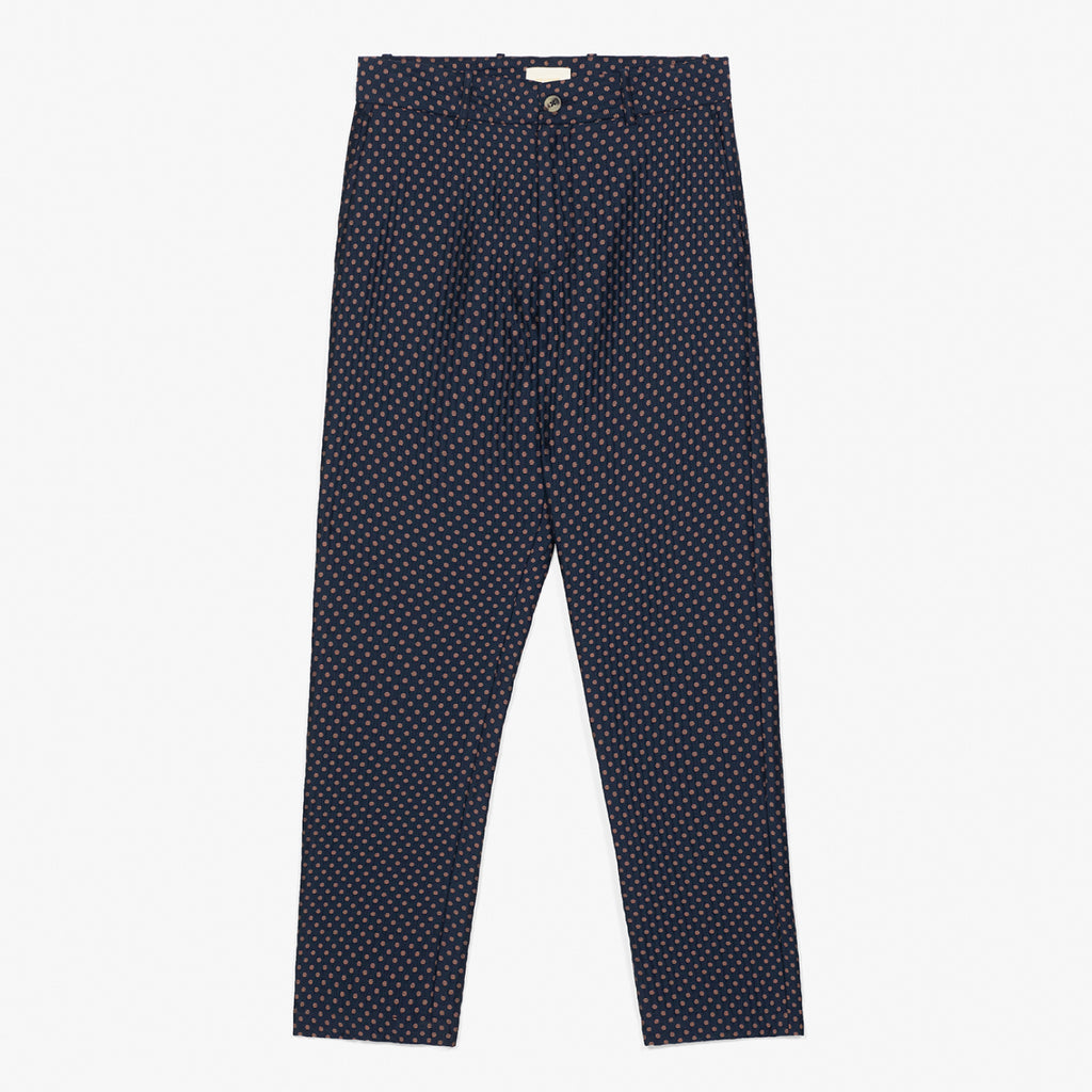 POLKA DOT TROUSER - NAVY