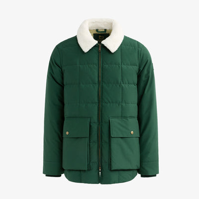 QUILTED DOWN PUFFER - GREEN