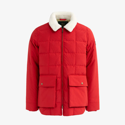 QUILTED DOWN PUFFER - RED