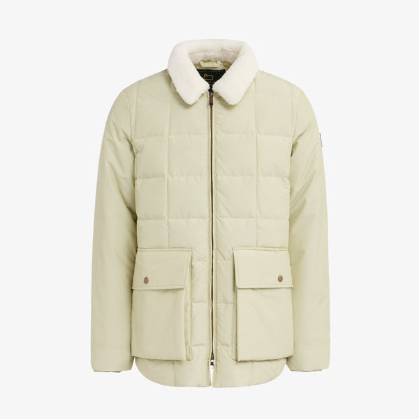 QUILTED DOWN PUFFER - CREAM