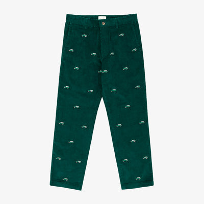 EMBROIDERED CORDUROY PANT - Pants Aimé Leon Dore