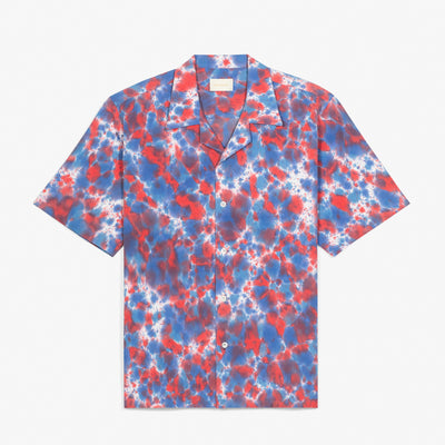 SS TIE DYE LEISURE SHIRT - RED