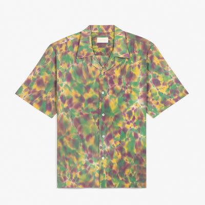SS TIE DYE LEISURE SHIRT - GREEN