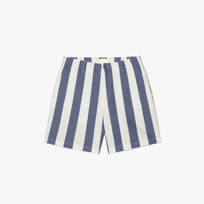 STRIPED SHORTS - WHITE/NAVY