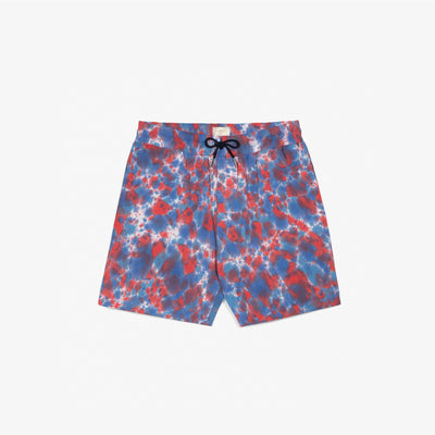 TIE DYE LEISURE SHORTS - RED