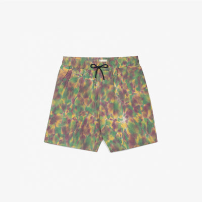 TIE DYE LEISURE SHORTS - PURPLE
