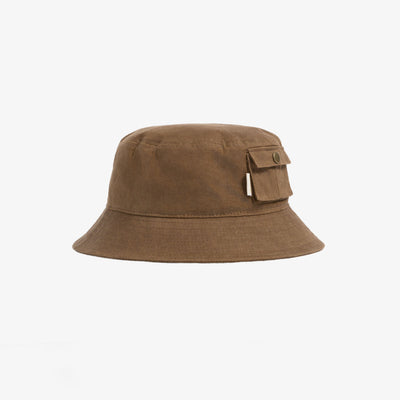 WAXED BUCKET HAT - BROWN