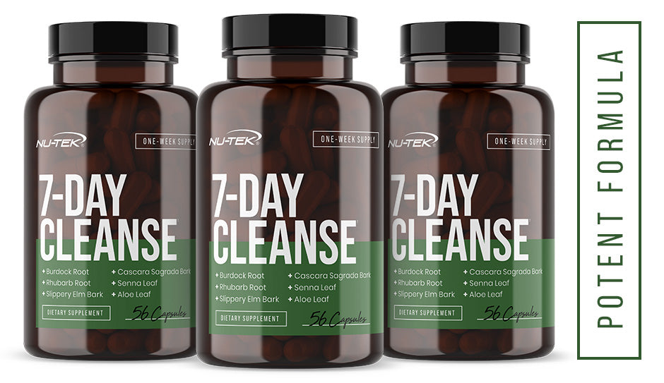 7-Day Cleanse a close up of a bottle