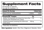 PhosphaTOR™ Supplement facts