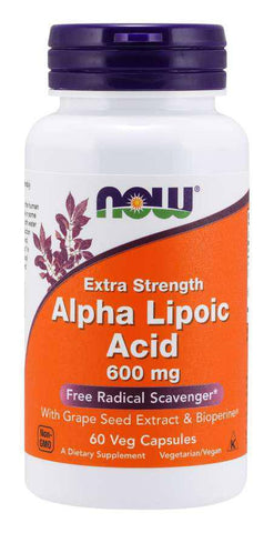 Alpha Lipoic Acid, Extra Strength 600 mg Veg Capsules, VITAMINS & GENERAL HEALTH, NOW FOODS