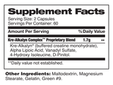 KRE-ALKALYN COMPLEX™ Supplement facts