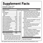 NATURE'S SUPERGREENS™ Supplement facts
