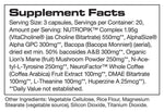 NUTROPIK™ Supplement facts