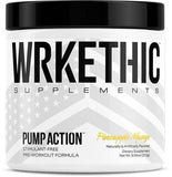 PUMP ACTION™, PRE WORKOUT, WRKETHIC SUPPLEMENTS