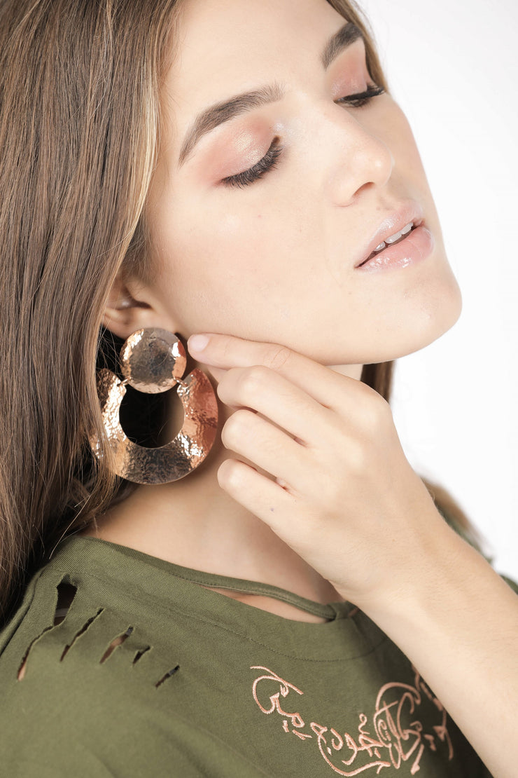 Rose Gold Earrings - Couscous Connection