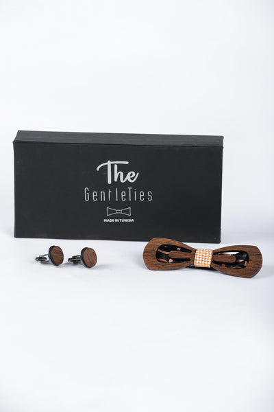 Bow Tie Box With Plissandre Cufflinks - Couscous Connection