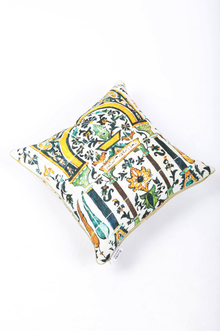 Quadrilope Matt Quilted Cushion - Couscous Connection