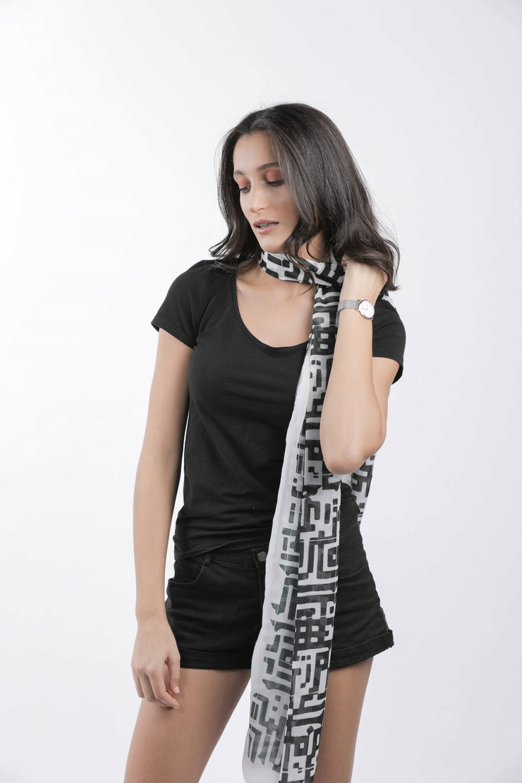 Kufic Lines Scarf - Couscous Connection