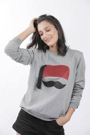 Sweat-shirt gris collection chachia femme - Couscous Connection