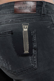 Faded Black Jean Pants - Couscous Connection