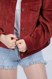 Brick Red Oversized Jacket - Couscous Connection