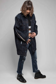 Oversized Blue Jeans Jacket - Couscous Connection
