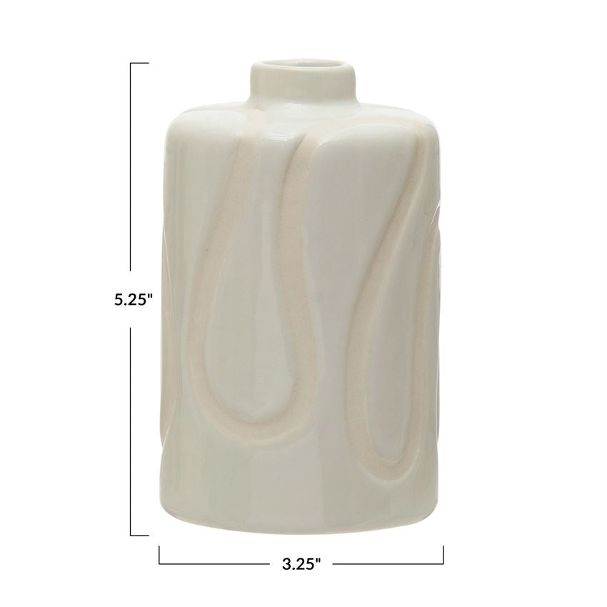Vases Ivory Lines Vase - The Fond Home