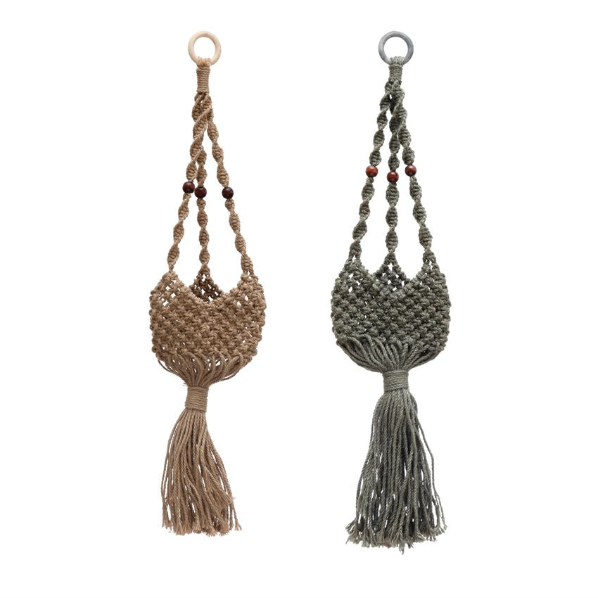 Plant Basket Jute Plant Hanger Basket - The Fond Home