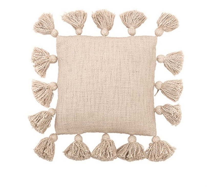 Mini Square Cream Pillow - The Fond Home