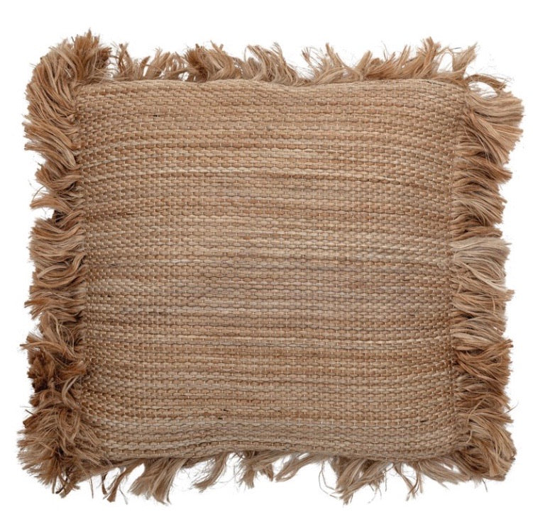 Pillows Jute Fringe Pillow - The Fond Home