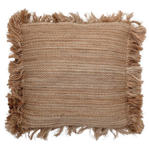 Jute Fringe Pillow - The Fond Home