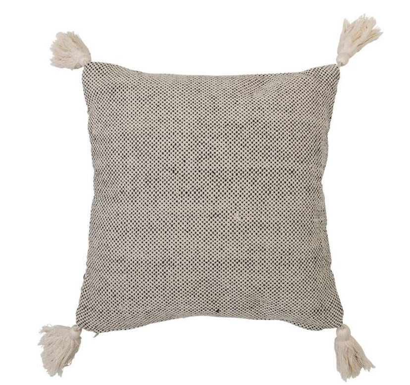 Beige Cotton Pillow - The Fond Home