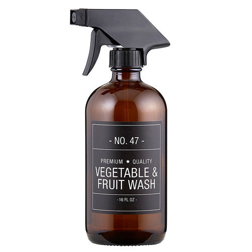 Bottle Vegetable & Fruit Wash Bottle with Pump - The Fond Home