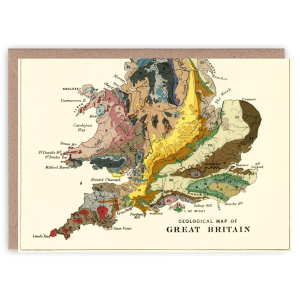 The Geology of Great Britain Greeting Card