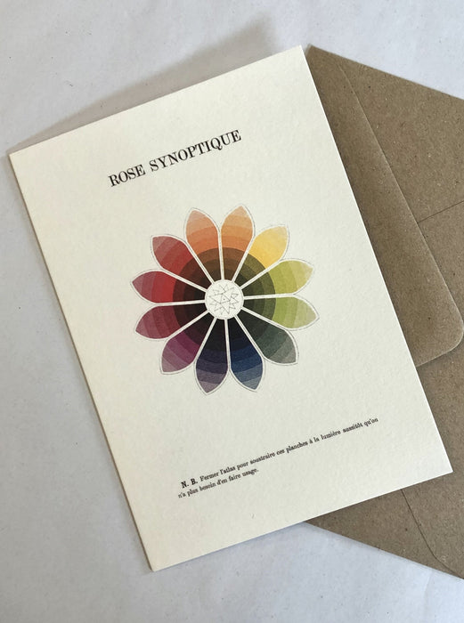 Colour Theory Greetings Card / rose, prism, spheres, trilobe